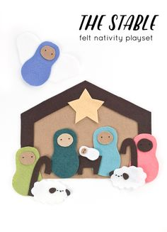 the stable // felt nativity playset // wild olive