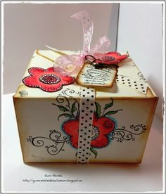 Gunns Kreative Rom: Sponsor for this month at StampArtic Decorative Boxes, Gift Wrapping, Blog, Gifts, Paper Wrapping, Wrapping Gifts, Blogging, Gift Packaging, Favors