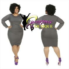 GRAY OVERLAPPING SWEATER DRESS    ( MODEL WEARING 3X )   RECOMMEND GOING UP 1 SIZE   SIZE :  1X  2X  3X    COLORS :  BLACK  YELLOW  GRAY    WWW.CURVACEOUSBOUTIQUE.COM & IN STORE    { { VISIT THE WEBSITE FOR ALL DETAILS & PRICE } }