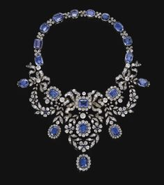 Habsburg Sapphire Parure of Empress Marie-Louise of France.