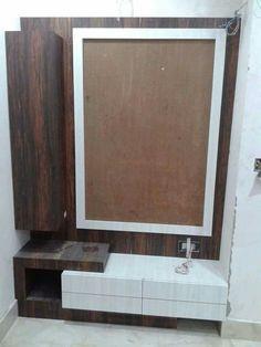 Wooden Front Door Design, Wood Bed Design, Room Door Design, Tv Wall Design, Bedroom Bed Design, Bedroom Furniture Design, Home Room Design, Ceiling Design, Simple Dressing Table Designs