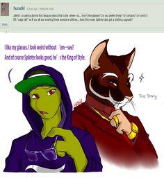 I agree king of style is splinter Ninja Turtles Funny, Ninja Turtles Art, Teenage Mutant Ninja Turtles, Ben 10 Comics, Tmnt Comics, Tmnt Human, Tmnt Swag, Leonardo Tmnt, Tmnt 2012