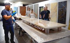 Learn every technique and aspect that Countertop Epoxy offers at our monthly installer classes! This is from our June 2016 class!