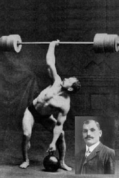 "Arthur Saxon – The Iron-Master (1878–1921) Saxon made his name famous by a lift called the ""bent press"". This is a type of weight training exercise where a weight is brought from shoulder-level to overhead one-handed using the muscles of the back, legs, and arm with which he set a world record of 370 lbs. Eventually Saxons's two brothers, Kurt and Hermann Henning joined the group as well, forming the ""Saxon Trio,"" The Trio performed with circuses all over Europe."