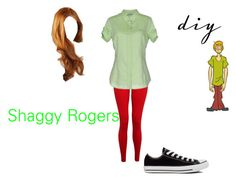 """""""Female Shaggy"""" by dairyqueen55 ❤ liked on Polyvore featuring Hey Jo, Henry Cotton's and Converse"""