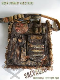 Post Apocalyptic Costume - shoulder bag. SALVAGED Ware enquiries always welcome @ www.markcordory.com