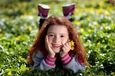 beauty child girl red hair