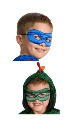 Little Adventures Reversible Superhero Mask Set for Boys-Red  Black, Blue  Green >>> Continue to the product at the image link.
