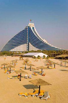 Jumeirah Beach Hotel, UAE. https://ExploreTraveler.com