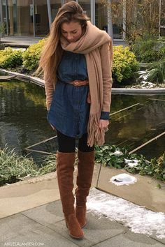 How to Wear over the knee boots for fall season. Angela Lanter, Hello Gorgeous #Overtheknee #boots #AngelaLanter #fallstyle #falloutfit #falltrends #fashionista #popular Latest Fashion Trends LATEST FASHION TRENDS | IN.PINTEREST.COM ENTERTAINMENT #EDUCRATSWEB