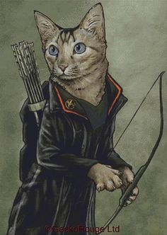 Modern Cross Stitch Kit Catniss By Jenny Parks - Needlecraft Kit - Hunger Games - Katniss Everdeen by GeckoRouge on Etsy https://www.etsy.com/listing/214178746/modern-cross-stitch-kit-catniss-by-jenny