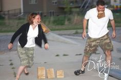 Couples minute to win it date nite for valentines day...what fun!  http://www.thedatingdivas.com/play-it-up/couples-minute-to-win-it/