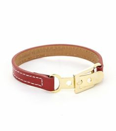 [Made in Korea] Italian Leather Adjustable Metal Buckle Bracelet