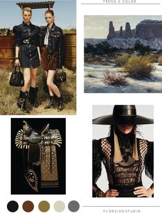 SOURCE: Versace and Balmain - Resort saddle by Carney Custom Creations, here and oil painting Three Sisters,, Monument V. Valentino Resort, Trend Council, Mood Images, Fashion 2020, Fashion Trends, Winter Trends, Mellow Yellow, Color Trends, Pattern Fashion