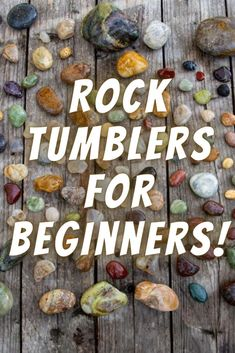 Rocks And Gems, Rocks And Minerals, Rock Crafts, Crafts To Do, Rock Tumbler Diy, How To Polish Rocks, Rock Identification, Rock Tumbling, Rock Hunting