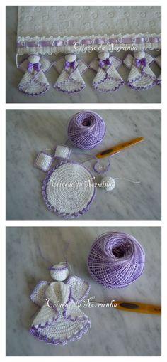 Pretty Christmas Angels Crochet Pattern: