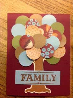 . . . . . . me stamp 2 . . . .: September Stamp of the Month - Family is Forever #Pathfinding #CirclePunch - card front