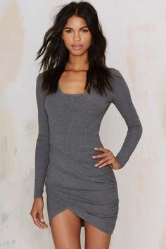 Nasty Gal Live and Let Die Ribbed Dress