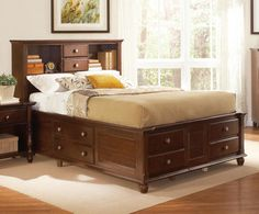 Hampton - Brown Queen Captains Bed by Coaster