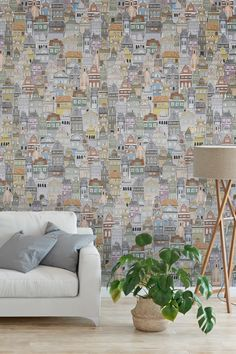 Interior Room Decoration, Diy Wall Decor, Home Decor, Graphic Wallpaper, Diy Wallpaper, Notting Hill, Deco Originale, Beautiful Interiors, House Colors