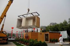 """Chinese company Zhouda builds modular house made from """"mysterious materials"""" in three hours : TreeHugger"""