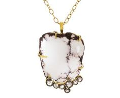Cathy Waterman - Datalite Stone and Diamond Pendant ONLY in New Necklaces at…