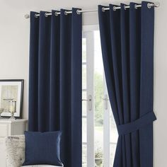 solar blue curtains