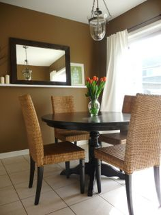 Our First Home: Breakfast Nook Makeover, We have no formal dining room in our first home, so we tried to create a space that works for every meal.  , Dining Rooms Design