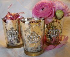 Bridal shower candle votives