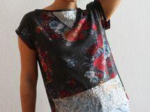Shirt Top Sweatshirt Rosen LEAH Spitze Blumen