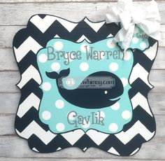 Birth Announcement  Door Hanger Personalized by SparkledWhimsy