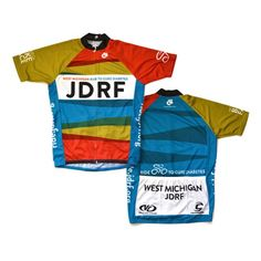 Juvenile Diabetes Research Foundation jersey designed by @rickvanderleek for @velocitycycles