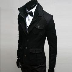Men - J.Q Wool Jacket - any guy can ask me out wearing this :) Fashion Moda, Boy Fashion, Mens Fashion, Fashion Outfits, Cool Outfits, Fashion Design, Fashion Corner, Cool Jackets, Sharp Dressed Man