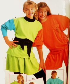 This was color blocking in the 80's!