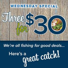 NEW! Wednesday Special