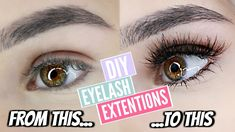 DIY: PERMANENT EYELASH EXTENSIONS AT HOME!