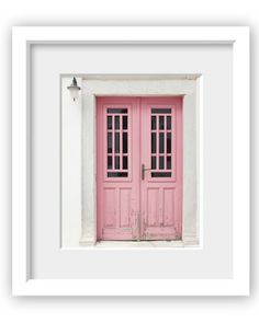 Pink door on a whitewashed house in Greece  Lovely by LupenGrainne