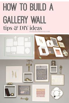 Building a gallery wall seems intimidating and time consuming but with these tips and ideas, you'll save time mounting the pieces on the wall while using the extra time on DIY ideas and projects to add to the gallery!
