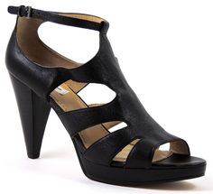 Nine West Women's BottlesUp Sandals Black Leather Size Medium 9.5 (B, M) #NineWest #Strappy
