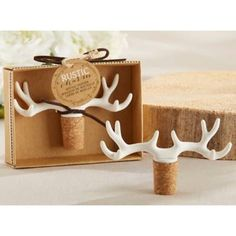 Product Image for Kate Aspen® Rustic Charm Antler Bottle Stopper 2 out of