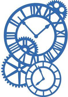 Kaisercraft Cogs and Clocks Decorative Dies Silhouette Cameo, Silhouette Portrait, Silhouette Files, Silhouette Projects, Stencil Templates, Stencil Patterns, Stencil Art, Quilting Stencils, Cogs