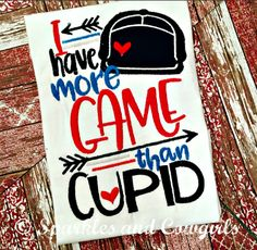 More game than cupid, boutique baby clothes, boutique boy clothes, vakentines, first valentines, valentines shirt, boy, boy mamma, boy mom, more game, cupid