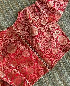 Brocade Blouse Designs, Saree Blouse Neck Designs, Brocade Blouses, Simple Blouse Designs, Stylish Blouse Design, Designer Blouse Patterns, Bridal Blouse Designs, Indian Blouse Designs, Latest Blouse Neck Designs