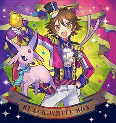 Pokemon BW Black/Hilbert and Espeon
