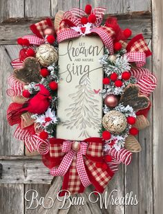 Cardinal Wreath, Let Heaven and Nature Sing, Ba Bam Wreaths