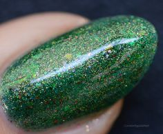 Beautiful swatch from Check out her IG account for so many gorgeous manis! Out Of The Woods, Swatch, Polish, Nail Art, Glitter, Nails, Check, Beautiful, Finger Nails