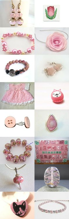 Pretty In Pink - Etsy treasury created by Ffigys Designs