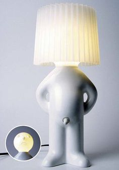 So cute, shy man lamp - http://www.bongoflashers.com