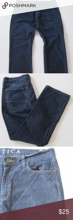 Nautica Jeans Cotton Classic Straight Dark Wash Nautica Jeans Mens Size 38/32 Cotton Classic Straight Dark Wash Cotton A5714kt10  very good Nautica Jeans Straight