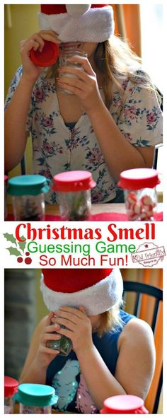 Guess that Smell Christmas Game for the Whole Family to Play! – Such a fun game … Guess that Smell Christmas Game for the Whole Family to Play! – Such a fun game to play. Perfect for kid's and teen parties – www. Christmas Games For Family, Xmas Games, Holiday Games, Holiday Fun, Christmas Holidays, Christmas Crafts, Christmas Party Ideas For Teens, Christmas Smells, Christmas Party Activities